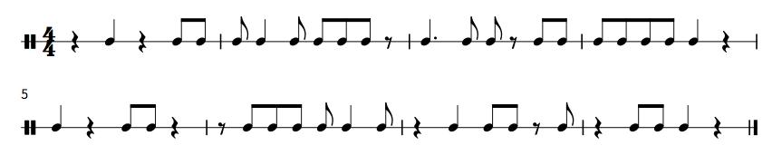楠木作曲:リズム1 譜面