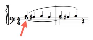 チェルニー3番左手の譜面