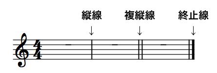 縦線の説明